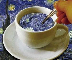 van gogh, art, and cup image