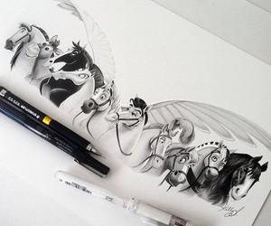 art, drawings, and disney image