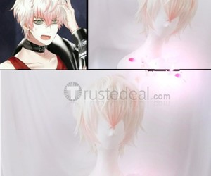 mystic messenger wig, cheap cosplay wig, and unknown saeran choi image