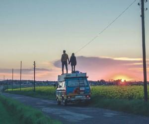 adventure, Caravan, and couple image
