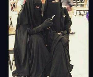 girl, muslim, and niqab image