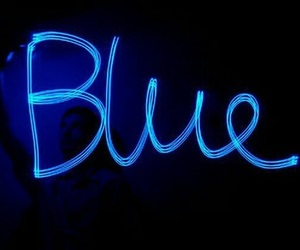 blue and light image