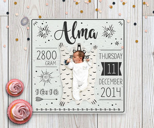 birth announcement, baby announcement, and new baby card image