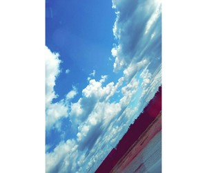 clouds, bleue, and skay image