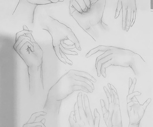 drawing, gestures, and hands image