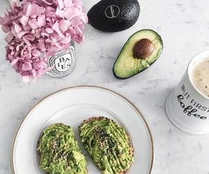 avocado, breakfast, and coffee image