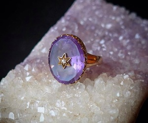 antique, jewelry, and purple image