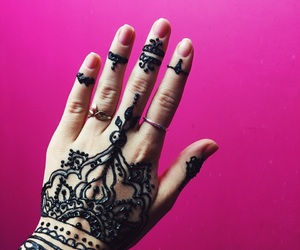henna, pink, and singapore image