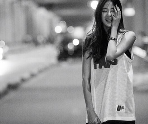asian, korean, and black and white image