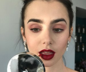 actress, makeup, and lily collins image