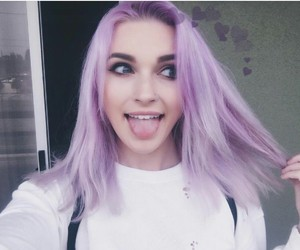 hair, loveher, and purple image