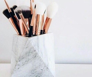 makeup, Brushes, and marble image
