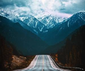 mountain, outdoors, and nature image