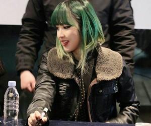 green hair, idol, and korean image