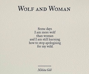 wolf, quotes, and woman image