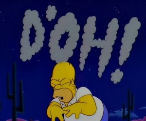 the simpsons, d'oh, and homer simpson image