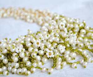 beaded necklace, bridal necklace, and wedding jewelry image