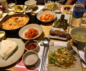 asia, plates, and restaurant image