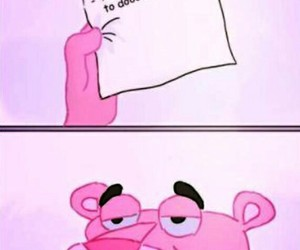 funny, pink panther, and pink image