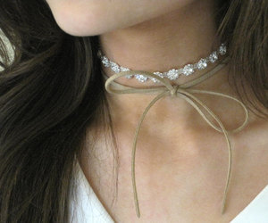 bow necklace, fashion, and jewelry image