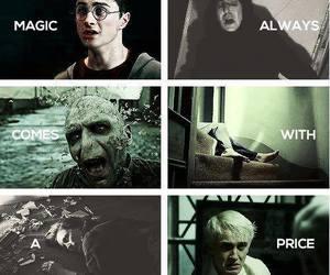 harry potter, magic, and draco malfoy image