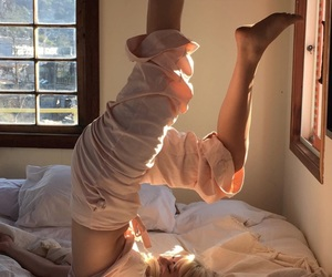acrobatic, aesthetic, and bed sheets image