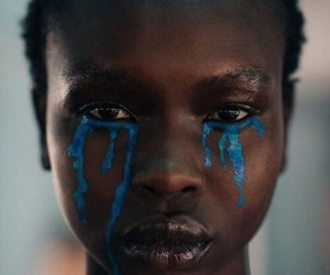 blue, paint, and tears image