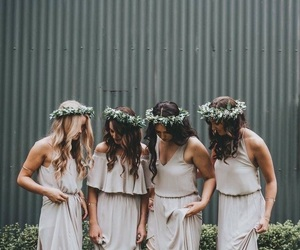 bridesmaids, girls, and friendship image