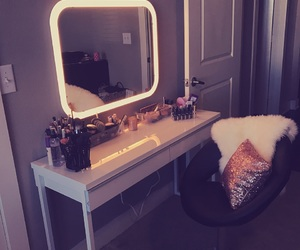 beauty, Brushes, and furniture image