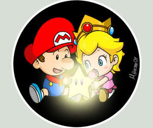 blonde, boyfriend, and mario image