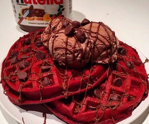 ice cream, nutella, and chocolate image