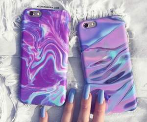 case, purple, and nails image