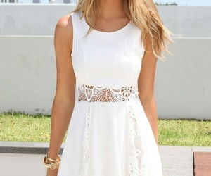 blond, dress, and hair image