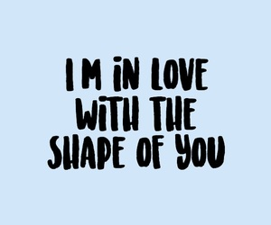 Lyrics, ed sheeran, and shape of you image