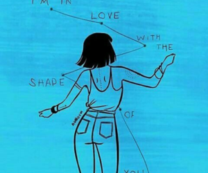 ed sheeran, shape of you, and blue image