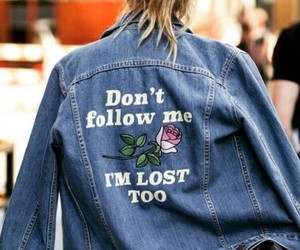 fashion, girl, and lost image
