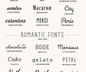 font and romantic image