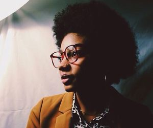 brown skin, style, and kinky curly hair image