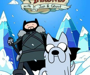game of thrones, finn, and ghost image