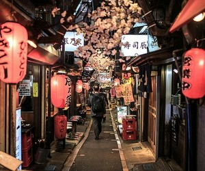 japan and night image