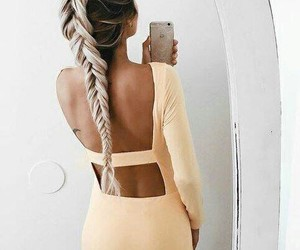 braid, girl, and style image