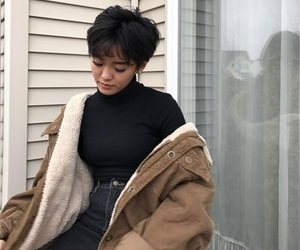 jacket, outfit, and blackclothes image