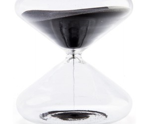 homewares, hourglass, and sand black timer 30 mins image