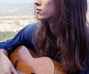 guitar, long hair guy, and long haired men image