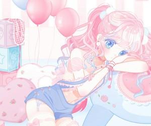 anime, art girl, and drawing image