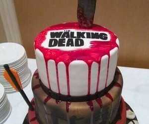 the walking dead, cake, and pastel image