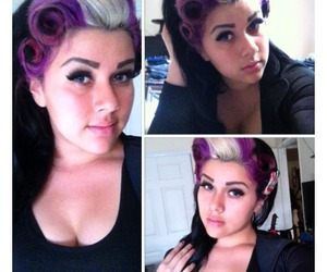 curls, hair, and psychobilly image