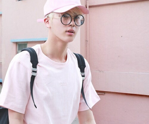 bts, jin, and pink image