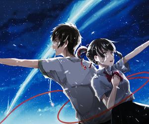 anime, stars, and kimi no na wa image