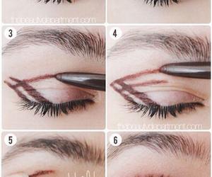 eye make up, eye shadow, and make up image